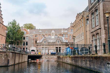 Amsterdam, Netherlands September 5, 2017 : Bridge over canal in Amsterdam Redakční