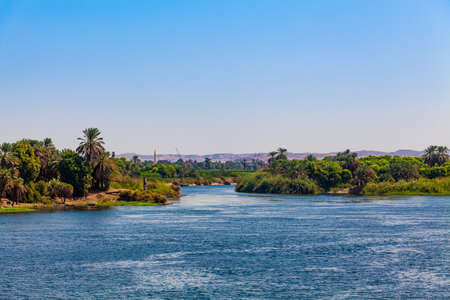 River Nile in Egypt. Life on the River Nile Stok Fotoğraf