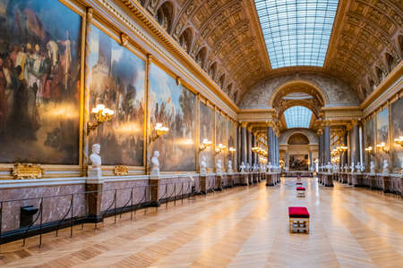 VERSAILLES, FRANCE - February 14, 2018 : Interior of Chateau de Versailles. Versailles palace is in UNESCO World Heritage Site list since 1979 Editorial