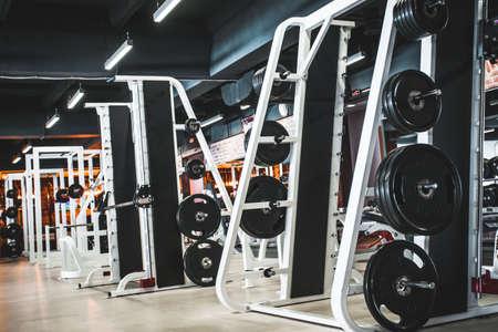Gym modern fitness center room Banco de Imagens