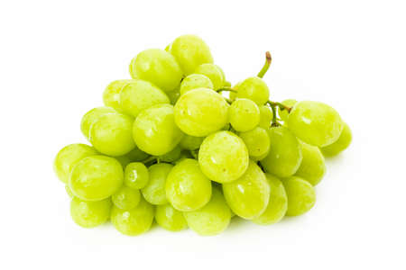 Green grape  isolated on white Banco de Imagens