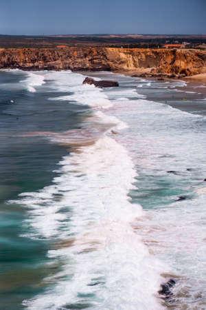 Big ocean waves of Atlantic Ocean Banco de Imagens