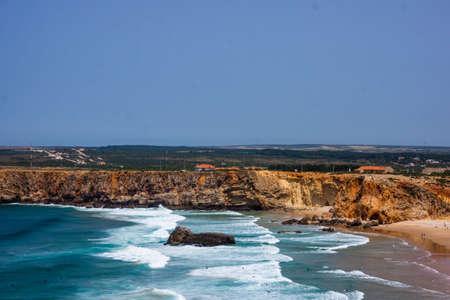 Portuguese coast, cliff into the Atlantic Ocean. Taken in Sagres