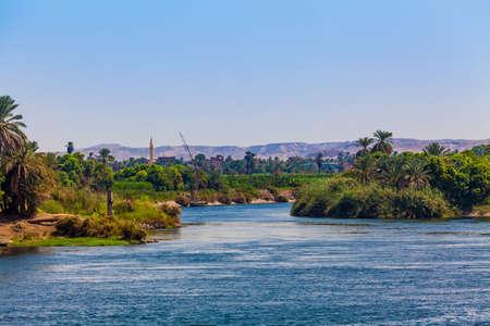 Life on the River Nile in Egypt 版權商用圖片