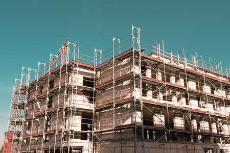 construction of the new building. Construction site background. Foto de archivo - 131801748