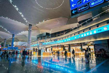 ISTANBUL,TURKEY,AUGUST 02, 2019: Interior view of the Istanbul new airport. New Istanbul Airport is the main international airport located in Istanbul, Turkey Standard-Bild