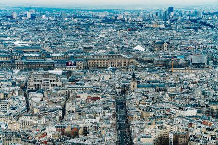 Aerial view of Paris city 스톡 콘텐츠