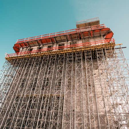 construction of the new building. Construction site background. Foto de archivo - 131801701
