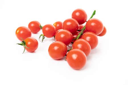 Cherry tomatoes isolated on white background Stock Photo
