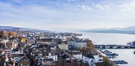 Downtown of Zurich. Beautiful view of the historic city center of Zurich Stockfoto