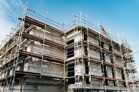 Construction of a multi-storey building. Stock Photo