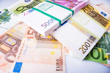 cash money. euro bills. Euro currency money Zdjęcie Seryjne