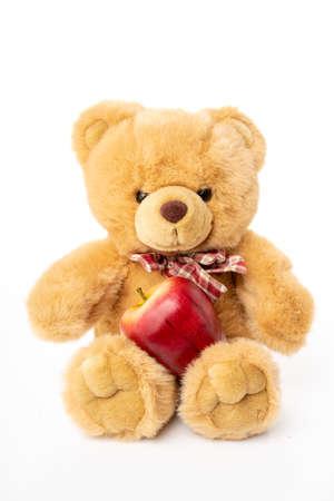 Fluffy teddy bear isolated on white Imagens