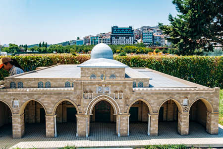 Istanbul, Turkey - July 12, 2017: the reduced copy of the Al Aqsa mosque. Miniaturk Park located in Istanbul