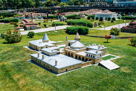Istanbul, Turkey - July 12, 2017: the reduced copy of the Hadji Bektash-I Veli Complex at Miniaturk Park 新聞圖片