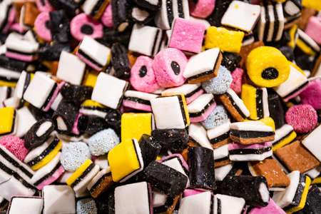 Colourful sugary candy, Assort various sweet candies