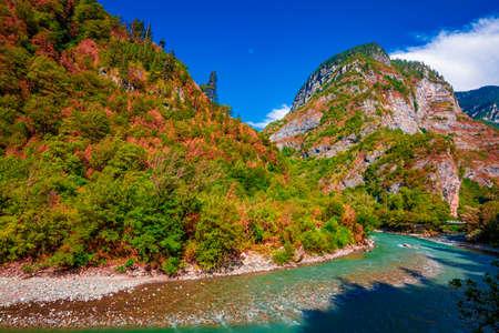 Mountain river stream valley scenery landscape  Zdjęcie Seryjne