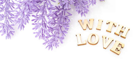 Cute Card With Love Design. lettering with love