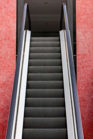 Escalator in department store. Modern escalator