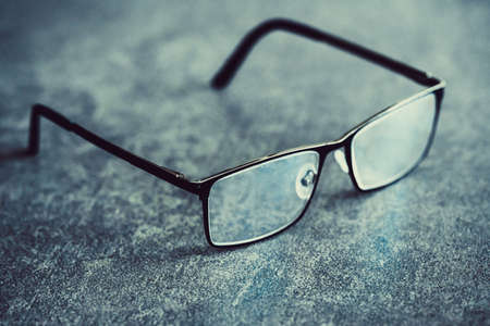 Close-up of glasses on table 免版税图像