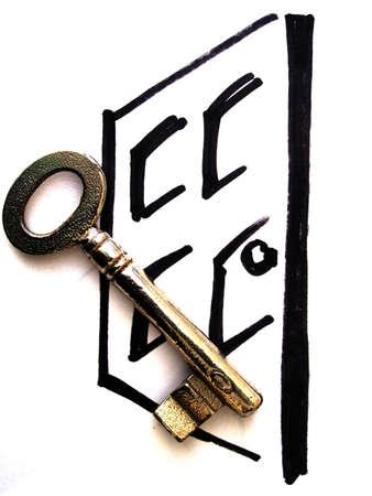 locked door: door