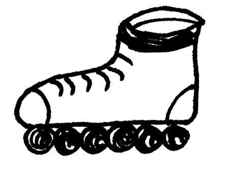 inline skating: skating