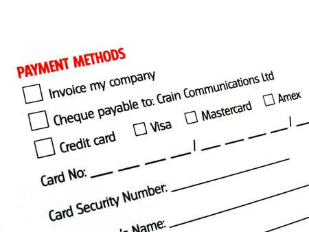 tranfer: payment details