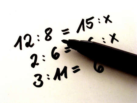 figuring: equation Stock Photo