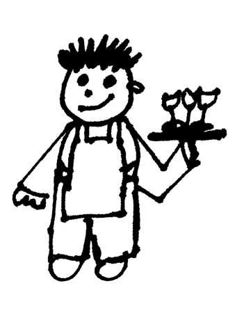 tailcoat: waiter   Stock Photo