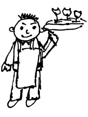 tailcoat: waiter