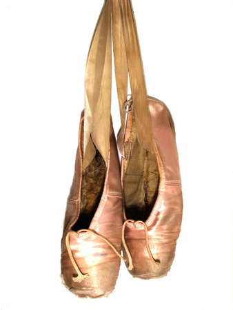 ballerina shoes: pointe shoes Stock Photo