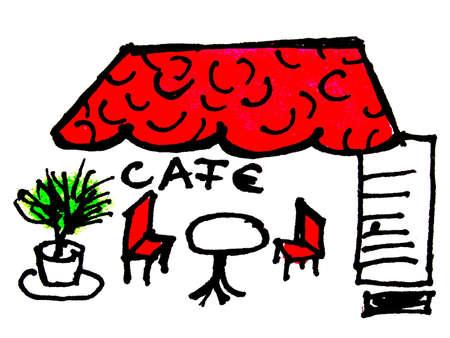 CAFE Stockfoto