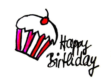 gratulation: happy birthday        Stock Photo