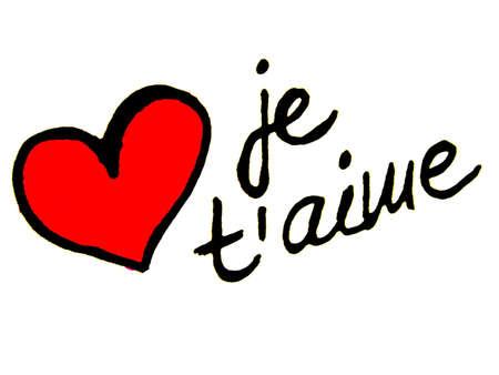 carta de amor: te amo en franc�s