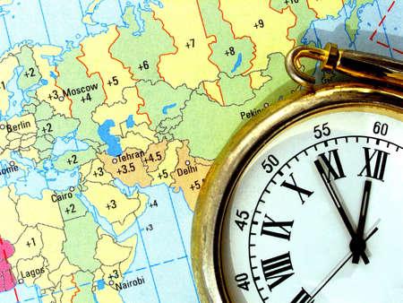 time zones: time zones     Stock Photo