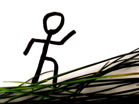 jogging in nature: jogging