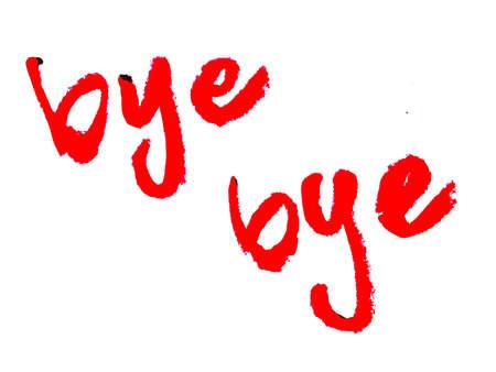 parting: bye bye   Stock Photo