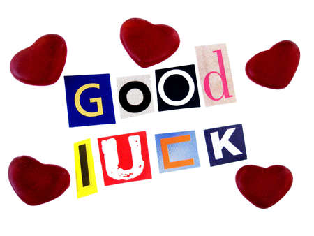 sentiment: good luck    Stock Photo