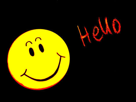 smiley faces: hello