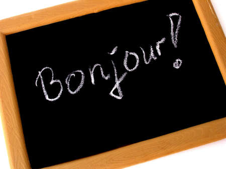 bonjour: bonjour  Stock Photo