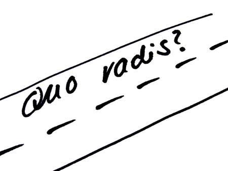 proverbs: quo vadis