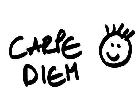 proverbs: carpe diem      Stock Photo