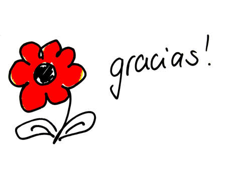 thankfulness: gracias         Stock Photo