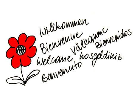 amabilidad: Bienvenido Foto de archivo