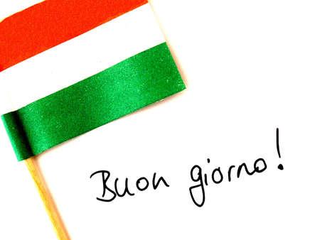 italien flagge: Italienisch  Lizenzfreie Bilder