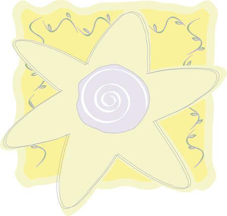 Art of whimsical yellow flower