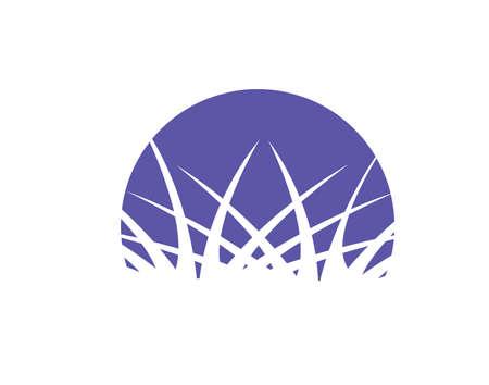 원예: Grass icon or horticulture logo 일러스트