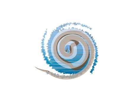 A large fun wave or swirl of wind
