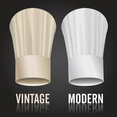 chef hat: Chefs Toques Illustration