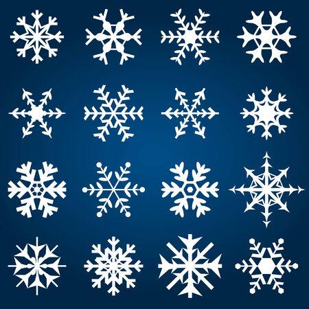 Decorative Snowflakes Illustration